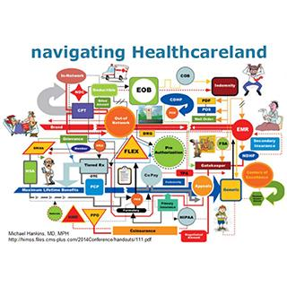 Navigating healthcare land-a pictorial of the complexity of the U.S. Healthcare System